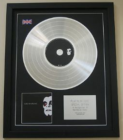 A.R.E. WEAPONS CD / LP PLATINUM PRESENTATION DISC